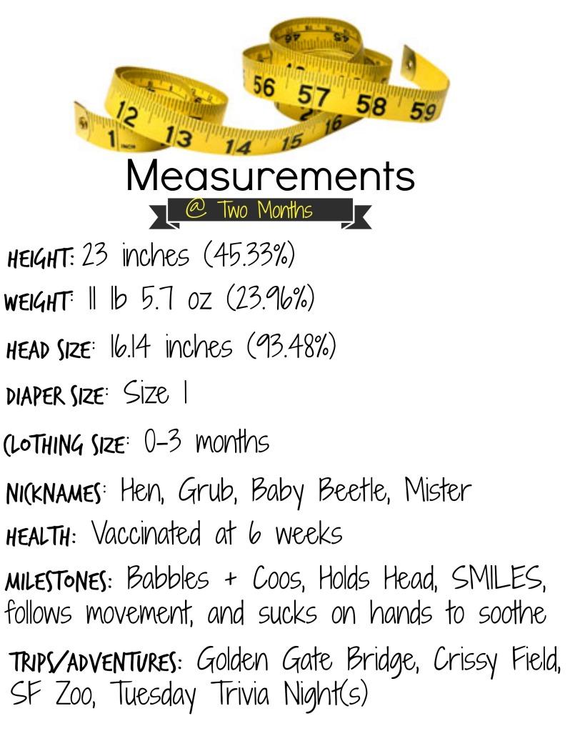 2 month measurements