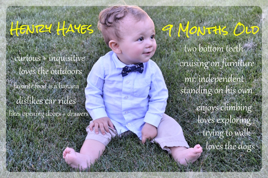 henry at 9 months